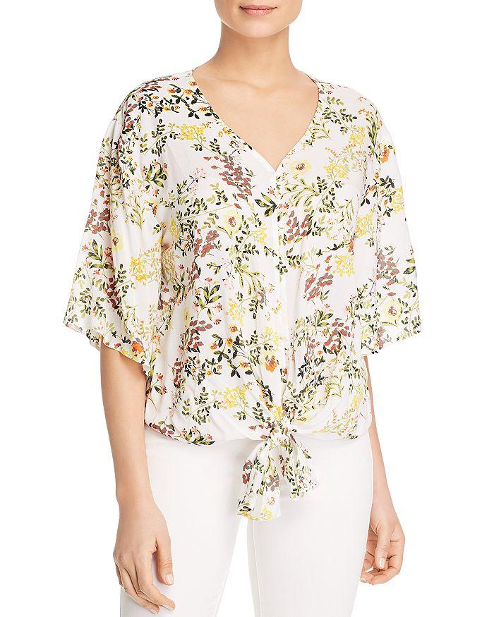 37759c10523 Cupio - Floral-Print Tie-Front Top