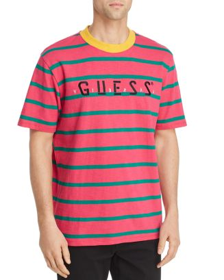 J Blavin Concert Striped Logo Tee by Guess