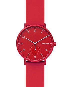Skagen - Aaren Kulør Silicone Strap Watch, 41mm