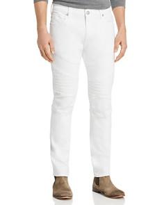 True Religion - Rocco Classic Moto Skinny Fit Jeans in Optic White