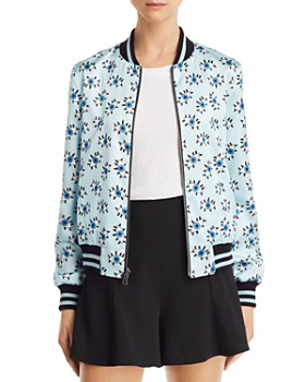 fc0f15a0c4cdc Alice and Olivia - Lonnie Reversible Printed Bomber Jacket ...