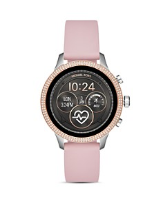 Michael Kors - Runway Pink Silicone Strap Touchscreen Smartwatch, 41mm