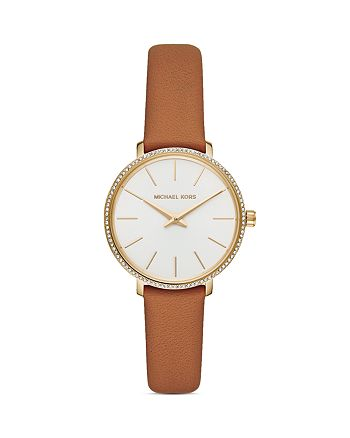 Michael Kors - Pyper Leather Strap Watch, 38mm