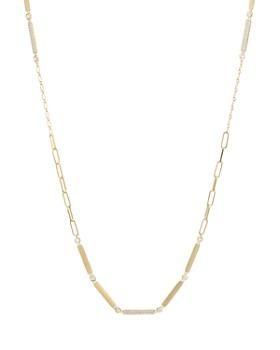 "Nadri - Long Mixed Link Necklace, 28"""