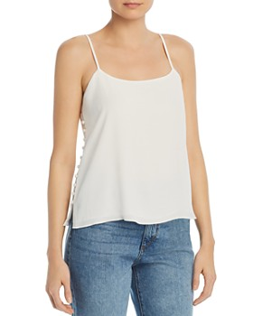 Joie - Abdi Side-Button Crepe Camisole Top
