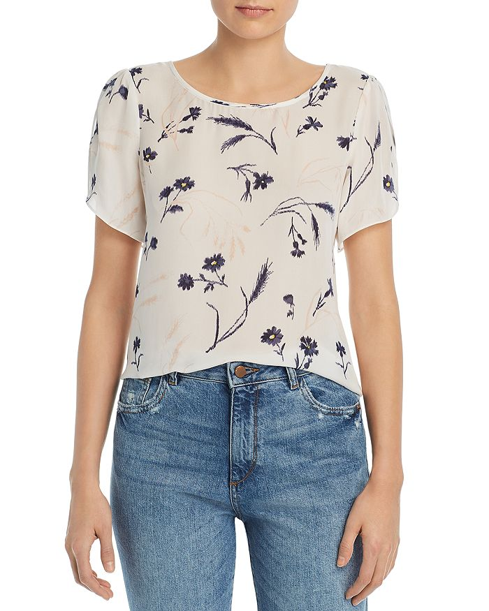 6fe22f2e887472 Joie Wira Floral-Print Silk Top | Bloomingdale's