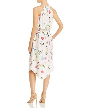 Parker - Herley Asymmetric Floral-Print Silk Dress
