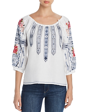 Johnny Was Tops DAVIS PEASANT BLOUSE