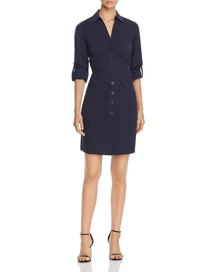 f134caf0ed594 Elie Tahari Skylar Ruched Shirt Dress | Bloomingdale's