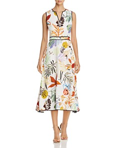 Lafayette 148 New York - Janelle Sleeveless Floral-Print Midi Dress