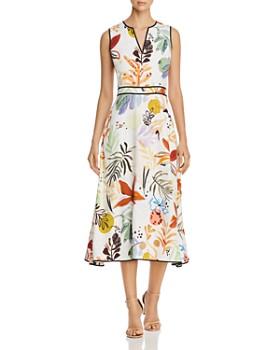 34f1f37f757 Lafayette 148 New York - Janelle Sleeveless Floral-Print Midi Dress ...