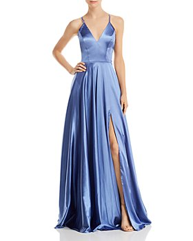 Faviana Couture - Charmeuse Lace-Up Gown