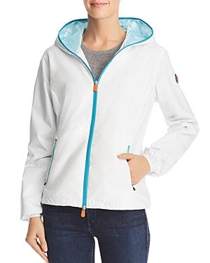 Save The Duck Contrast Zip Hooded Packable Windbreaker Jacket-Women