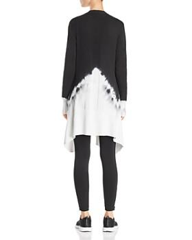 Blanc Noir - Dip-Dye Long Cardigan