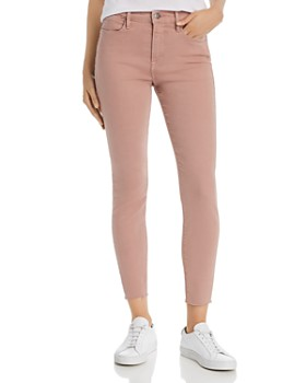 01d470d045f084 FRAME - Le High Raw-Edge Skinny Jeans in Dusty Rose ...