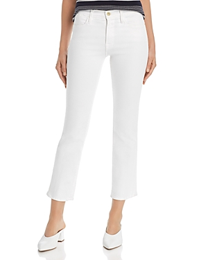 Frame Le High Ankle Straight-Leg Jeans in Blanc