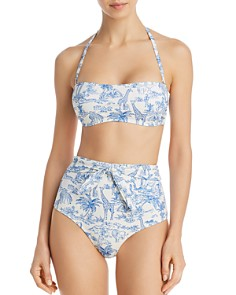 Tory Burch - Far and Away Bandeau Bikini Top & Far and Away High Waist Bikini Bottom