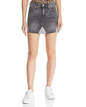 Hudson - Viper Denim Mini Skirt in Old School
