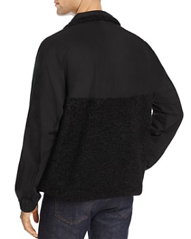 McQ Alexander McQueen - Half-Zip Mixed-Media Pullover Track Jacket