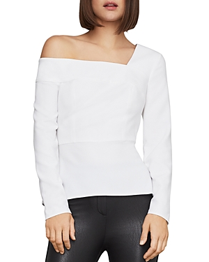 Bcbgmaxazria Tops ONE-SHOULDER PEPLUM TOP
