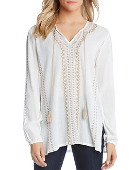 a4be2098132 Karen Kane - Embroidered Tunic Top ...