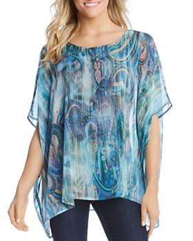 57b45dc2c4b79 Karen Kane - Paisley-Print Dolman-Sleeve Top ...