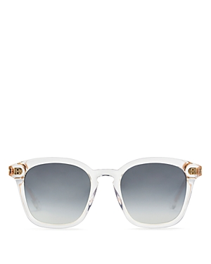 Krewe Sunglasses WOMEN'S PRYTANIA MIRRORED SQUARE SUNGLASSES, 50MM