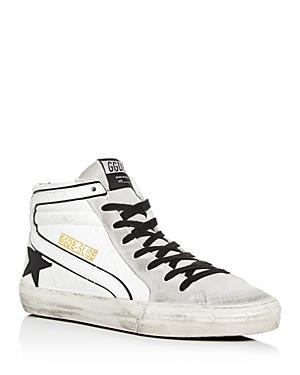 Golden Goose Deluxe Brand Men's Distressed Leather High-Top Sneakers