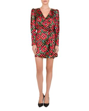 THE KOOPLES | The Kooples Poppy Print Wrap Dress | Goxip