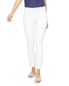 NYDJ - Ami Embroidered Skinny Jeans in Optic White