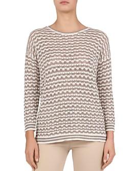 Gerard Darel - Joanie Open-Knit Geo-Pattern Sweater