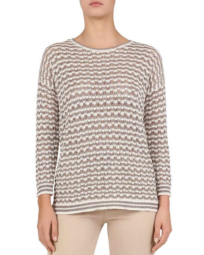 5e6dd03ea Gerard Darel - Joanie Open-Knit Geo-Pattern Sweater