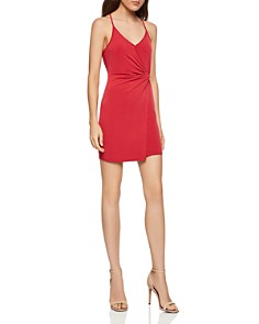 BCBGENERATION - Sleeveless Twist-Front Surplice Dress