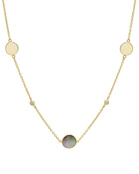 Argento Vivo - Mother-of-Pearl Station Necklace, 16""