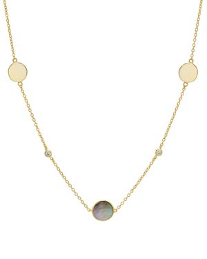 Argento Vivo Mother-of-Pearl Station Necklace, 16