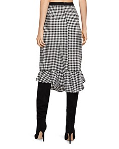 BCBGENERATION - Gingham Asymmetric Pencil Skirt