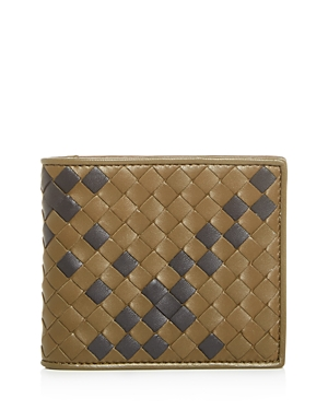Bottega Veneta Tartan Leather Bi-Fold Wallet