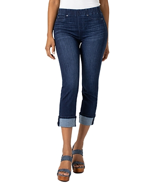 Liverpool Jeans CHLOE CROPPED SLIM JEANS IN CRYSTAL COVE