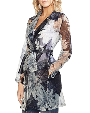 Vince Camuto Jackets PAGODA BLOSSOMS BELTED JACKET