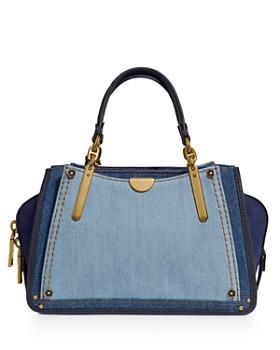 ab1bc7fb75 COACH - Dreamer 21 Color-Block Denim Shoulder Bag ...