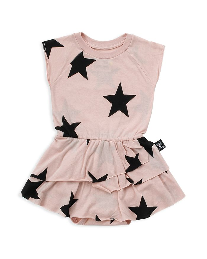 NUNUNU - Girls' Star Skirted Bodysuit - Baby