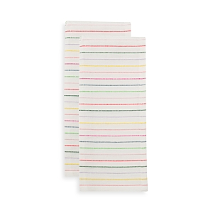 kate spade new york Artisan Stripe Kitchen Towel Set, 2-Pack