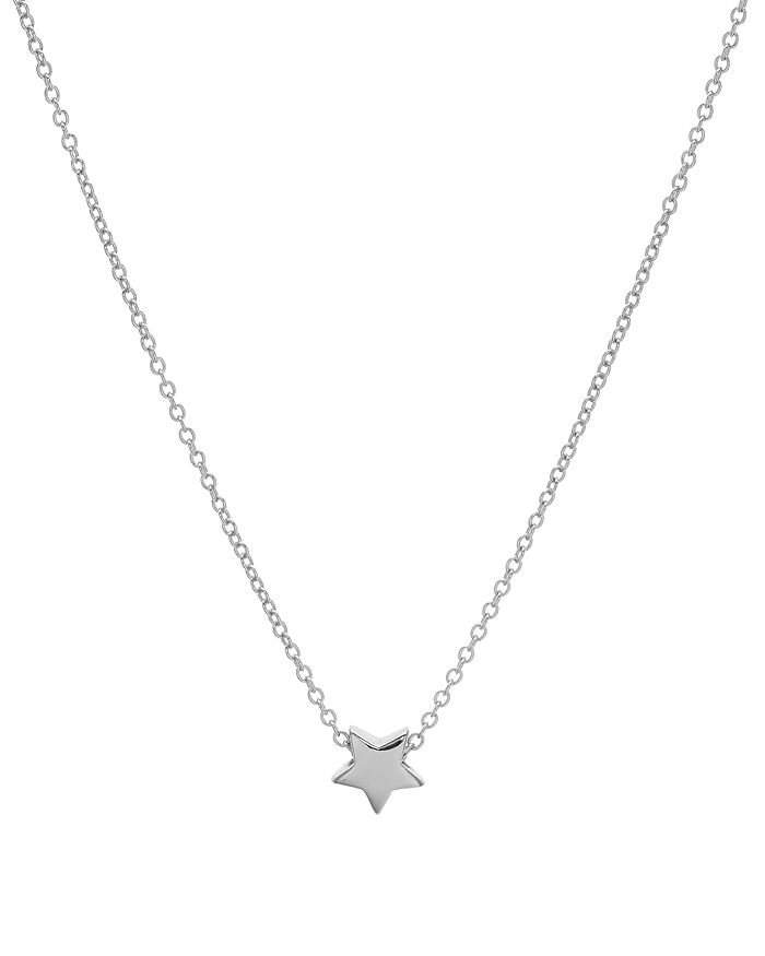 """AQUA - Star Pendant Necklace in 14K Gold-Plated Sterling Silver or Sterling Silver, 16"""" - 100% Exclusive"""