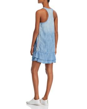 Bella Dahl - Chambray Side-Stripe Racerback Dress
