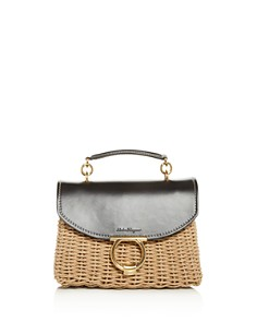 Salvatore Ferragamo - Margot Small Wicker Shoulder Bag