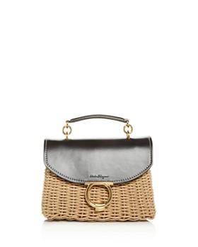 97b42475694 Salvatore Ferragamo - Margot Small Wicker Shoulder Bag ...