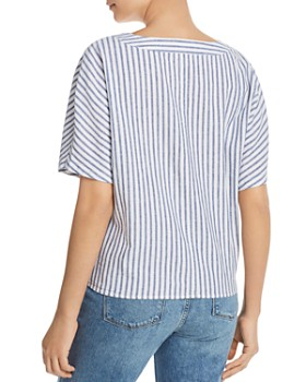 9404cb41bca ... BeachLunchLounge - Striped Tie-Front Shirt