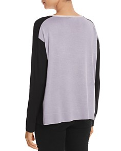 DKNY - Color-Block Knit Top