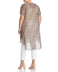 VINCE CAMUTO Plus - Leopard-Print Tunic
