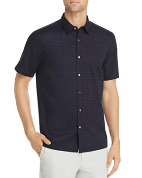Theory - Irving Sphere Short-Sleeve Circle-Print Regular Fit Shirt